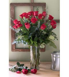 Two Dozen Designed Roses
