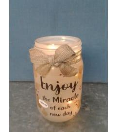 Enjoy The Miracle LED Mason Jar