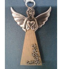 Wooden Base Angel