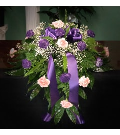 Casket Spray Of Carnations (Can Be Any Color)