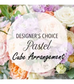 Designer's Choice-Pastel Arrangement in Cube