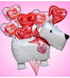 Love Puppy Jumbo Mylar Bundle