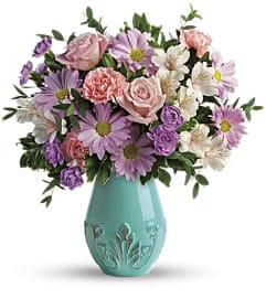 Teleflora's Blushing Aqua Bouquet