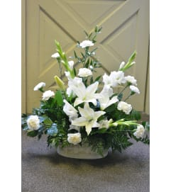 Gladiola White Floor Basket