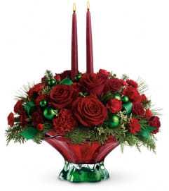 Teleflora's Joyful Christmas Centerpiece