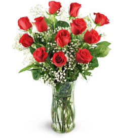 12 Classic Red Roses
