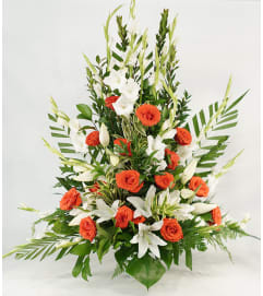 Orange and White Mixed Tribute Design
