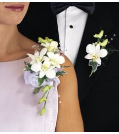 Pin-On Orchid Corsage/Boutonniere