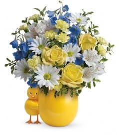 Teleflora's Sweet Peep Bouquet - Baby Blue