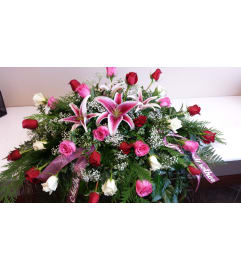 Bountiful Rose Casket Spray