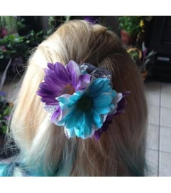 Daisy Hair Accessory - Purple & Blue