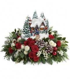 Thomas Kinkade country Christmas home