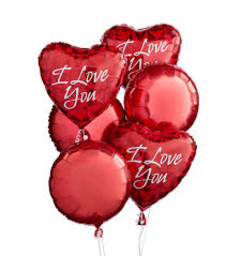Valentine's day Love balloon bouquets