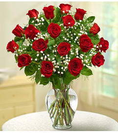 Rose Elegance - 18 Red Roses