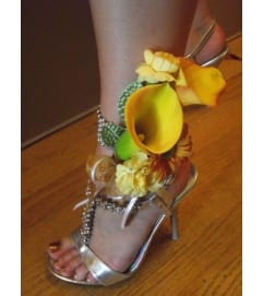 Calla Lily Anklet Corsage