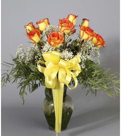 Sunset Rose Vase