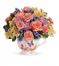 Teleflora's Butterfly Sunrise Bouquet