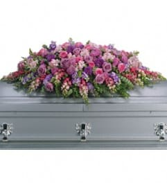 Fields of Lavender Casket Spray