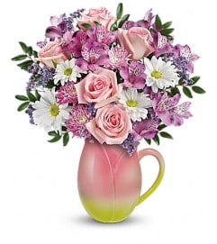 Teleflora's Spring Tulip Pitcher Bouquet