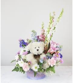 Fluffy Teddy Basket