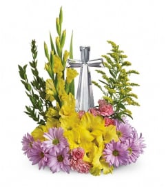 Teleflora's Crystal Cross Bouquet
