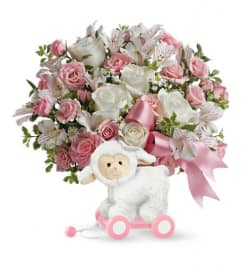 Teleflora's Sweet Little Lamb - Pink