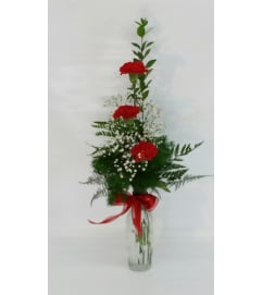 Red Carnation BudVase