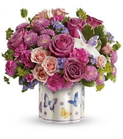 Teleflora's Field Of Butterflies Bouquet