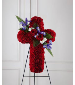The FTD® Living Cross™ Easel - Red
