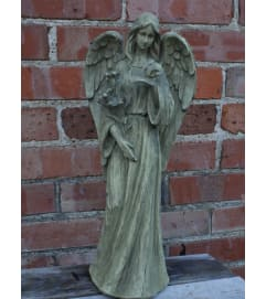 Large Ceramic Angel with Bird