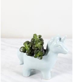 Blue Unicorn Planter
