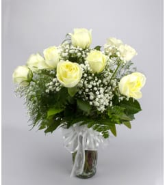 Classic (Medium) White Rose Arrangement