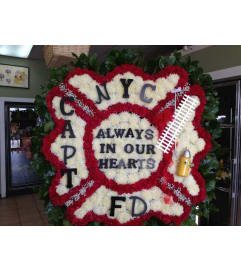 Funeral Custom Fire Dept Sympathy Piece