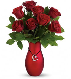 Passion's Heart Bouquet by Teleflora