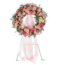 The Respectful Pink Wreath