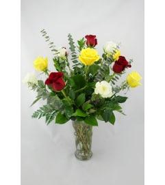 A Dozen Assorted Roses