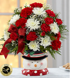 The FTD® Snowman Sensation™ Bouquet 2014