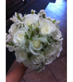 White Rose and Alstromeria Bouquet