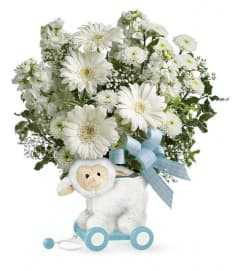 Teleflora's Sweet Little Lamb - Blue