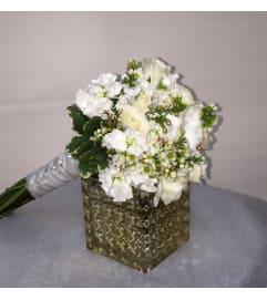 Communion Bouquet All White Flowers