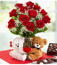Abundant Love™ Teddy Bear & Chocolate