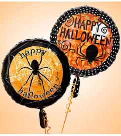 Two Happy Halloween Mylar Balloons