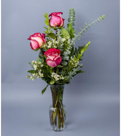 Floral Art's Triple Rose Vase