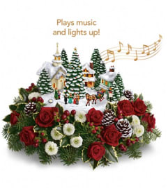 Thomas Kinkade's Christmas Carolers by Teleflora