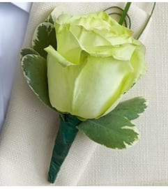 Green Rose Boutonniere *PICK UP ONLY*