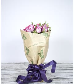 Wrapped Rose Bouquet