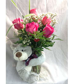 Momma Bear Hug Vase