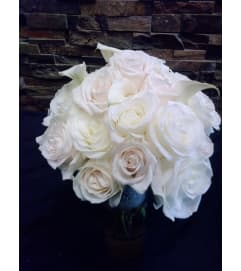 White and Ivory Rose Bouquet