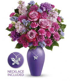 Teleflora's Roses And Butterflies Bouquet