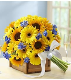 Country Wedding Deluxe Sunflower Mixed Bouque